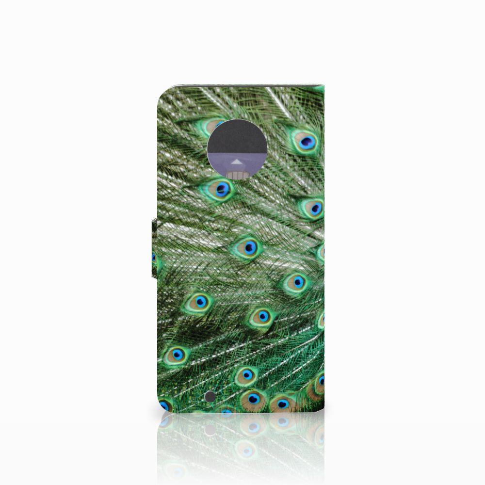 Motorola Moto G6 Telefoonhoesje met Pasjes Pauw