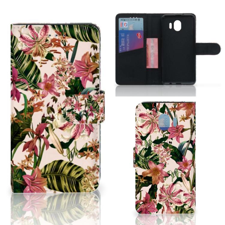 Samsung Galaxy J4 2018 Hoesje Flowers