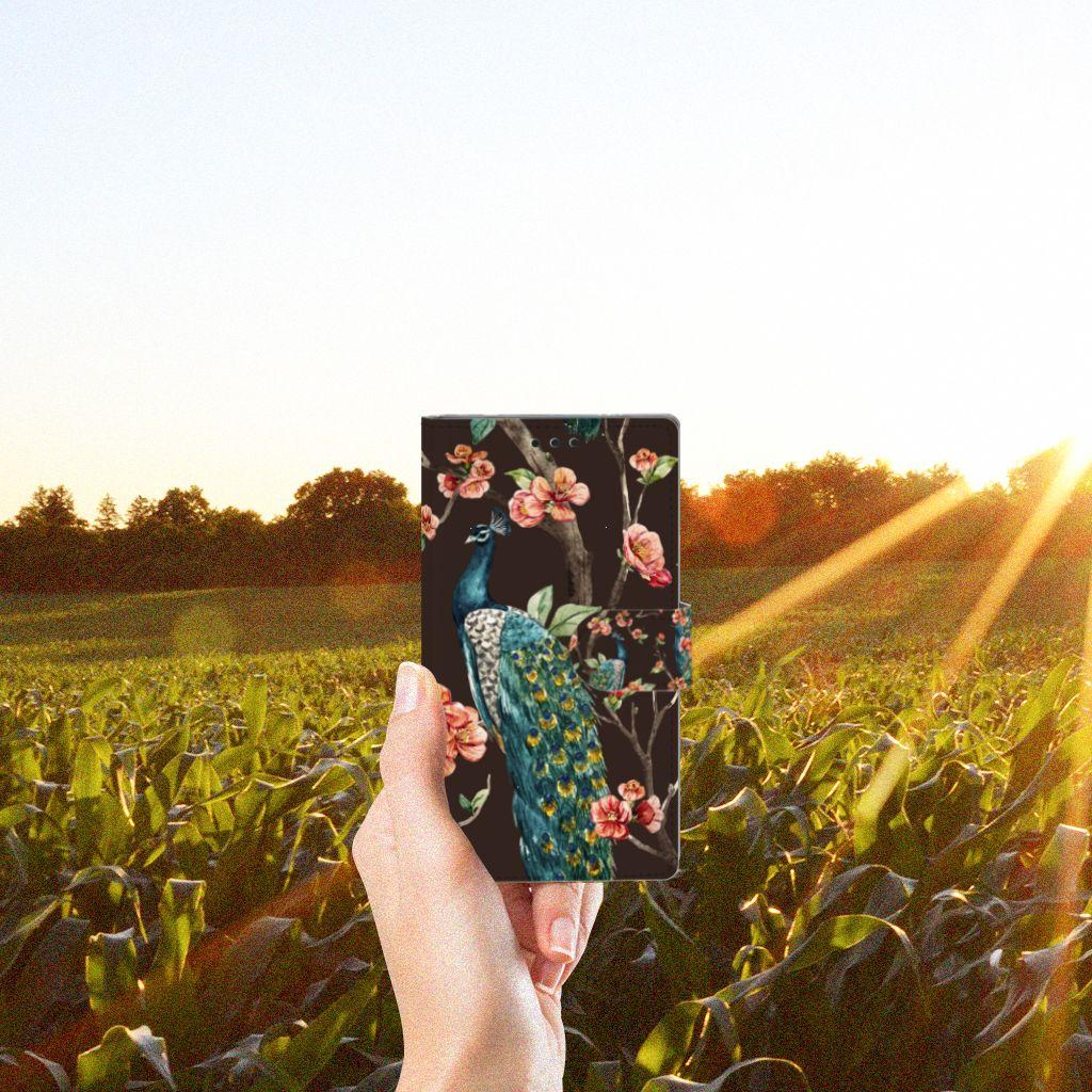 Sony Xperia L2 Boekhoesje Design Pauw met Bloemen