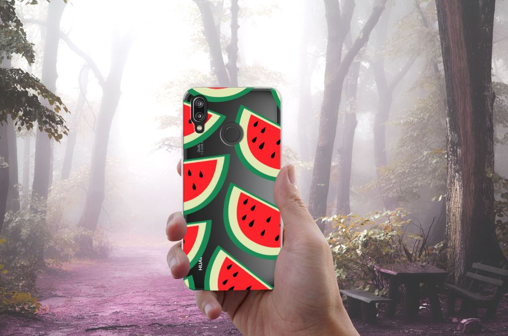 Huawei P20 Lite Siliconen Case Watermelons