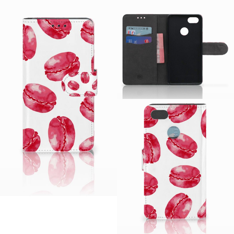 Huawei Y6 Pro 2017 Book Cover Pink Macarons