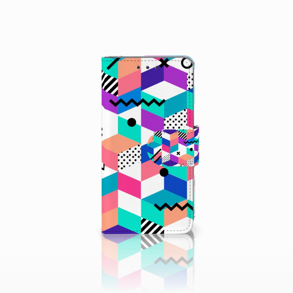 Samsung Galaxy A3 2015 Boekhoesje Design Blocks Colorful