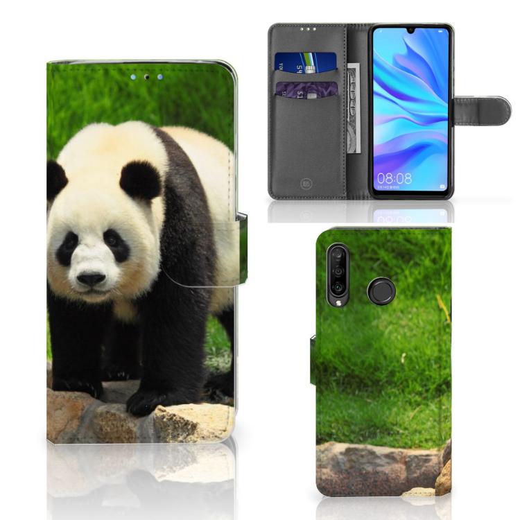 Huawei P30 Lite (2020) Telefoonhoesje met Pasjes Panda