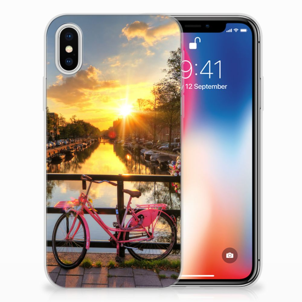 Apple iPhone X | Xs Uniek TPU Hoesje Amsterdamse Grachten