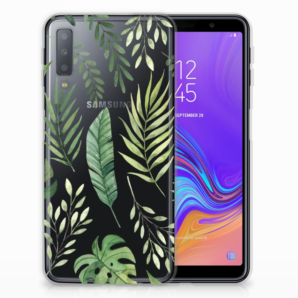 Samsung Galaxy A7 (2018) TPU Case Leaves