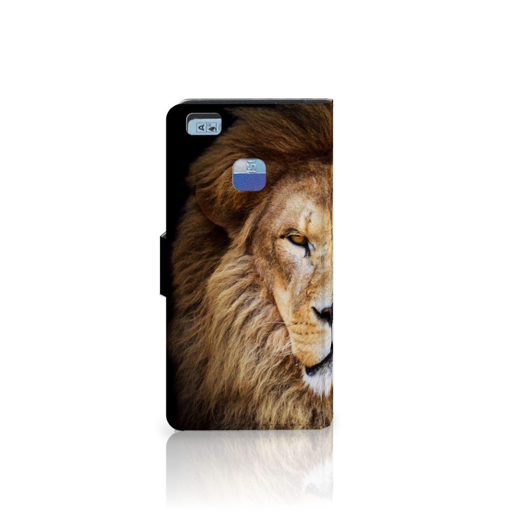 Huawei P9 Lite Telefoonhoesje met Pasjes Leeuw