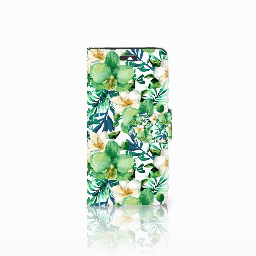 Huawei Ascend Y550 Uniek Boekhoesje Orchidee Groen