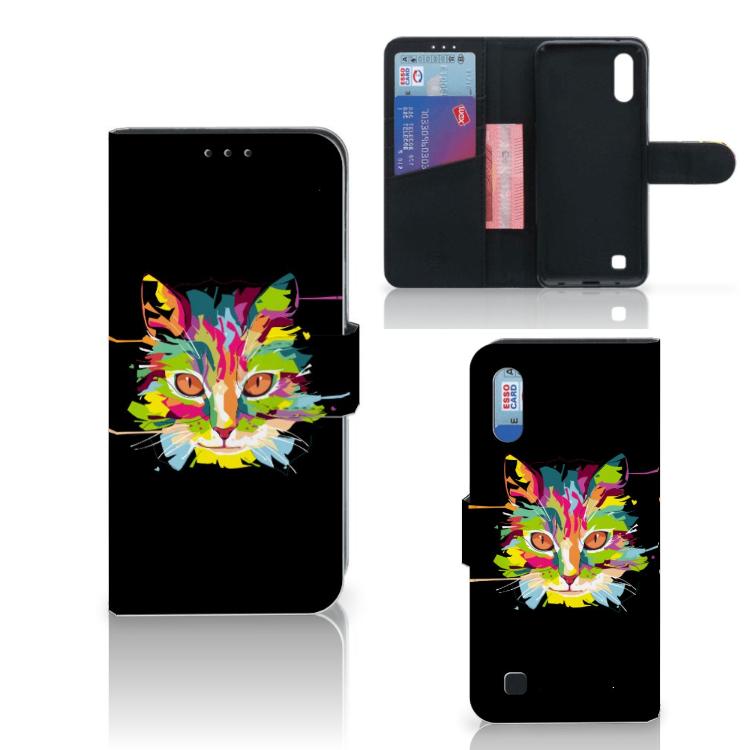 Samsung Galaxy M10 Leuk Hoesje Cat Color
