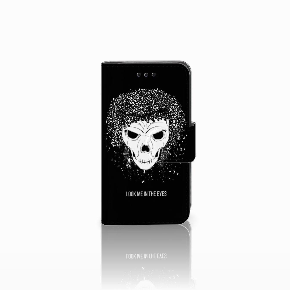 Samsung Galaxy Trend 2 Uniek Boekhoesje Skull Hair