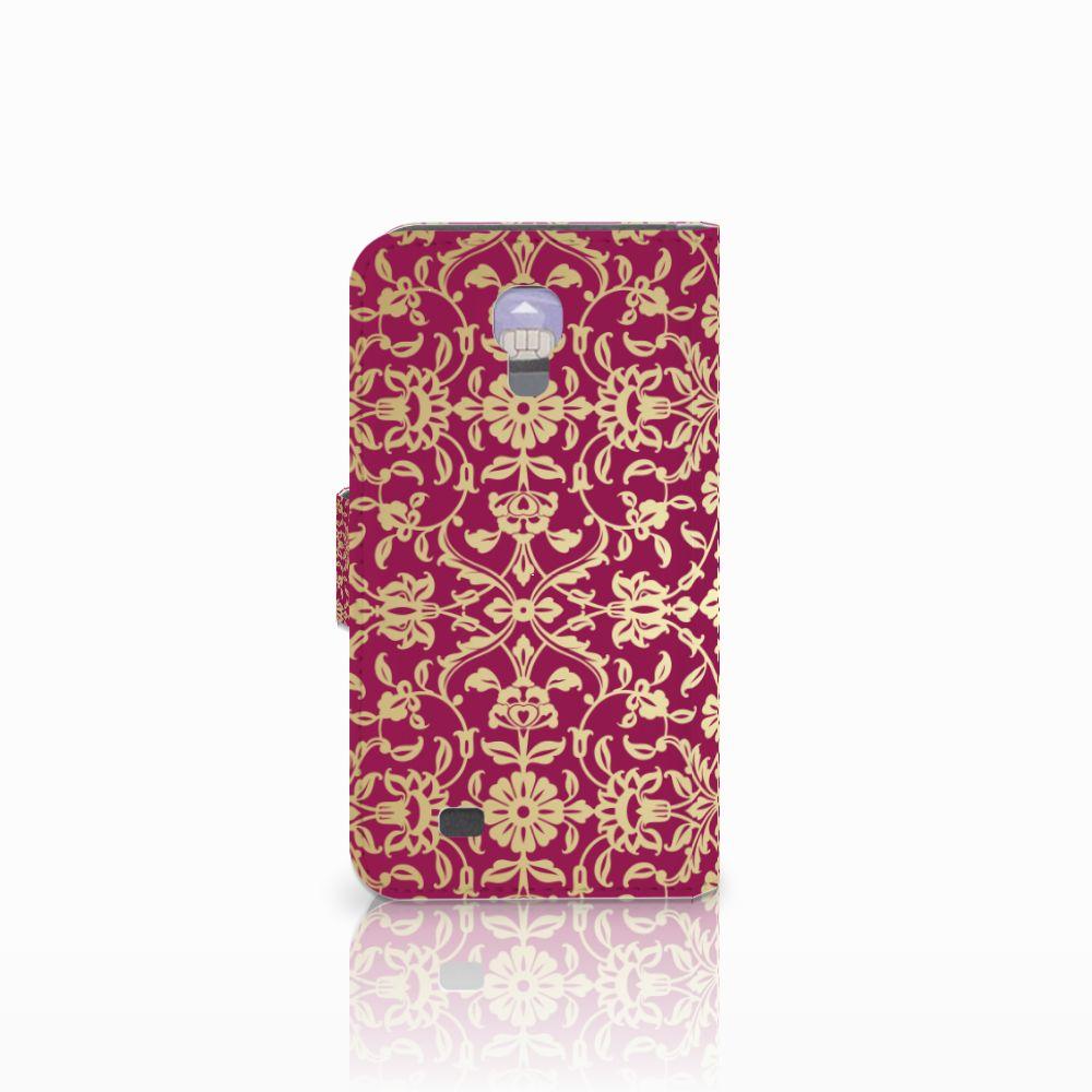 Wallet Case Samsung Galaxy S4 Barok Pink