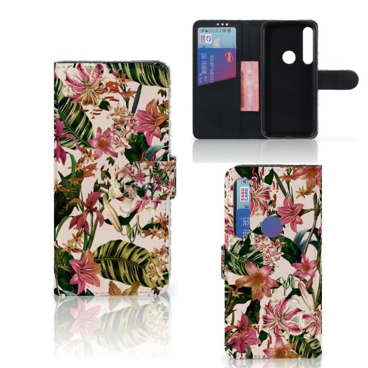 Motorola Moto G8 Plus Hoesje Flowers