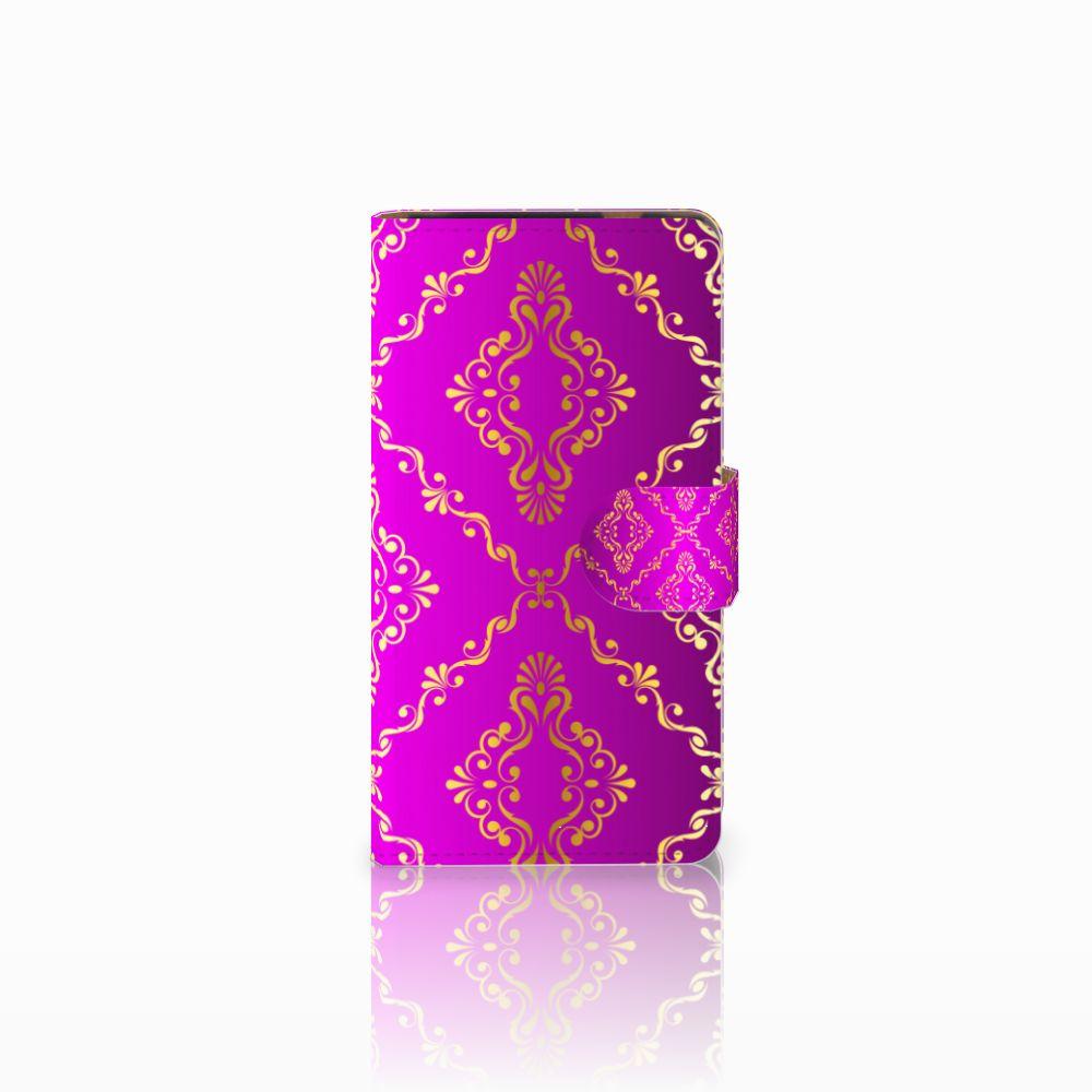 HTC Desire 601 Uniek Boekhoesje Barok Roze