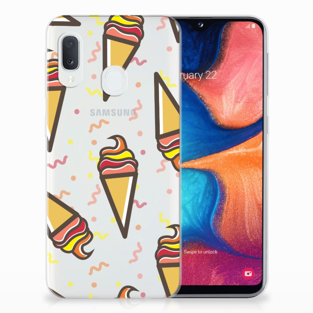 Samsung Galaxy A20e Siliconen Case Icecream