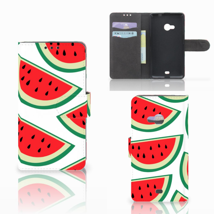 Microsoft Lumia 535 Book Cover Watermelons