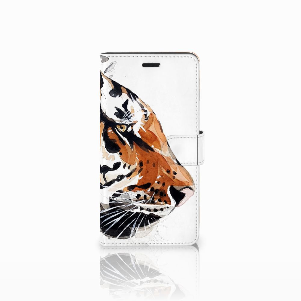 Hoesje Wiko Pulp Fab 4G Watercolor Tiger
