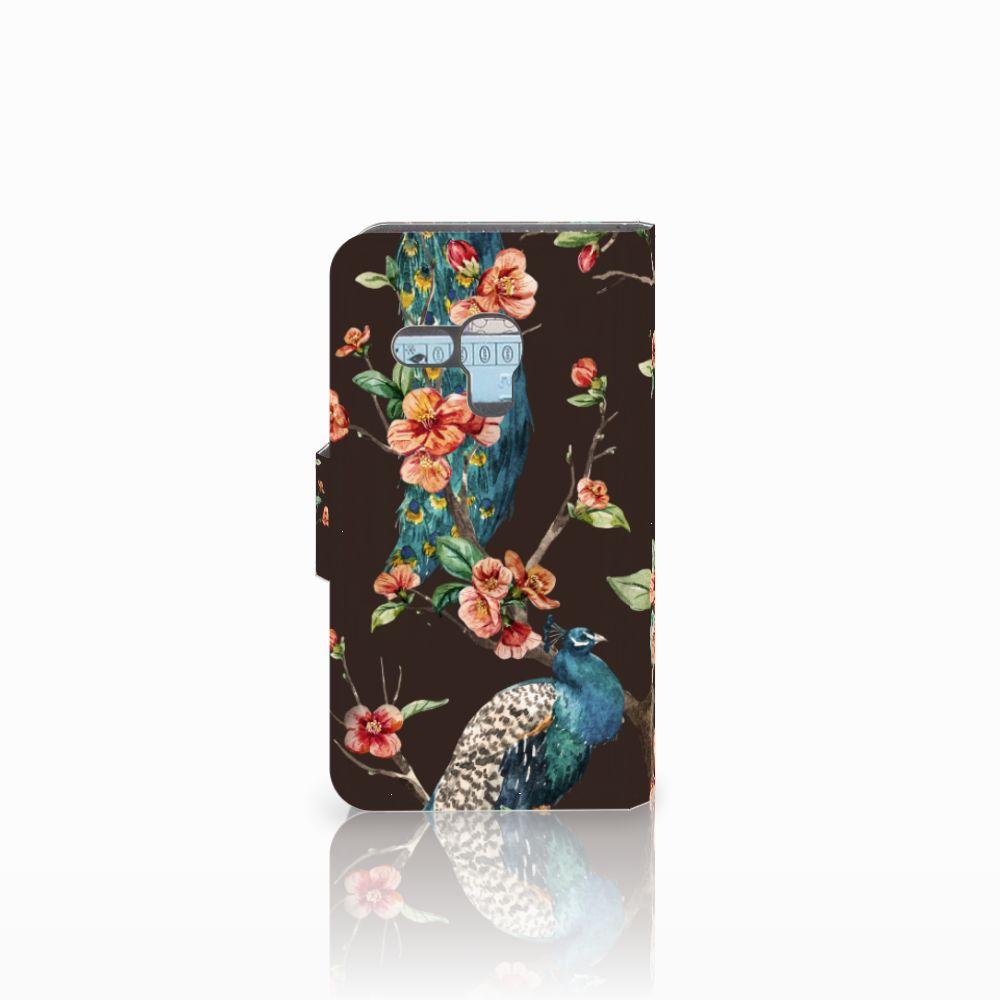 Samsung Galaxy S3 Mini Telefoonhoesje met Pasjes Pauw met Bloemen