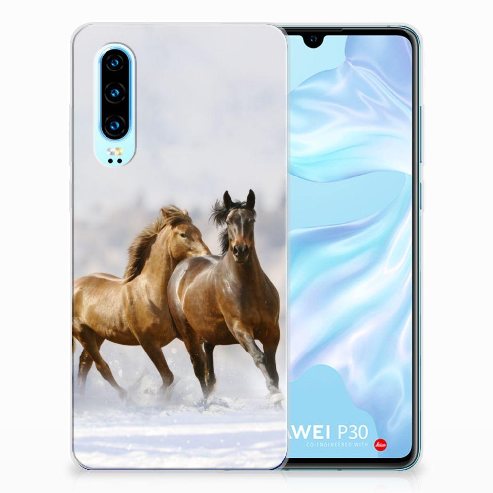 Huawei P30 TPU Hoesje Paarden