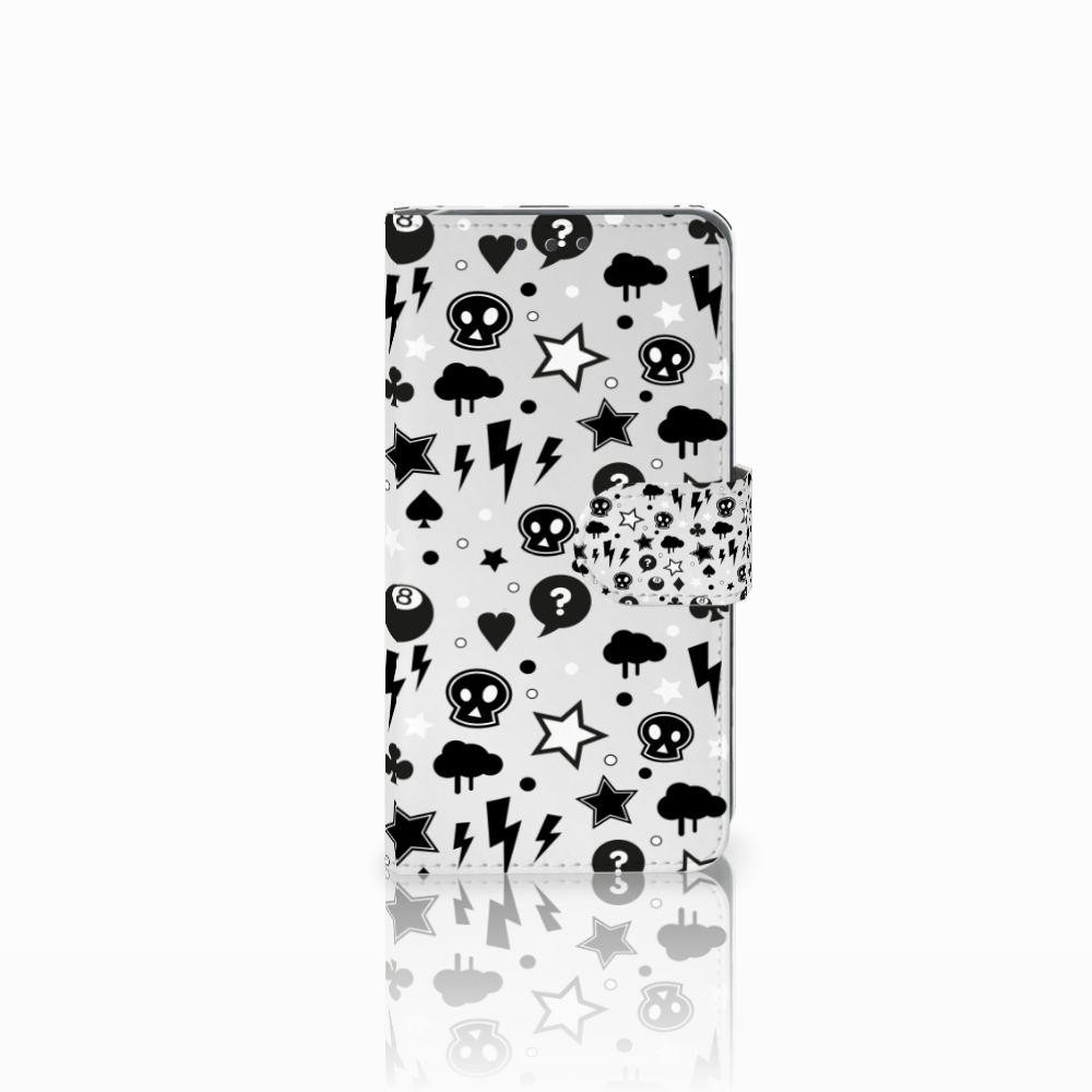 Huawei Y5 2 | Y6 II Compact Uniek Boekhoesje Silver Punk