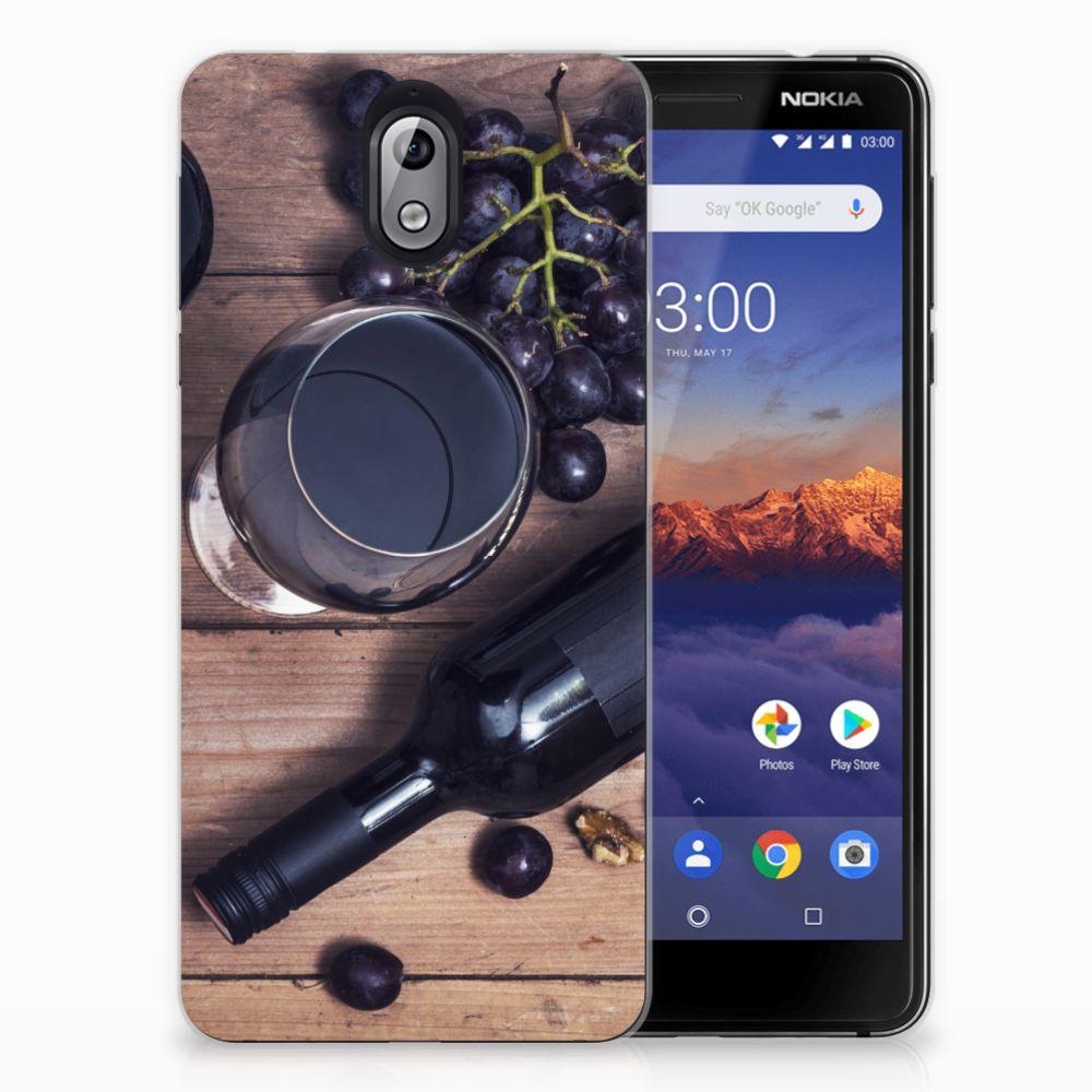 Nokia 3.1 (2018) Siliconen Case Wijn