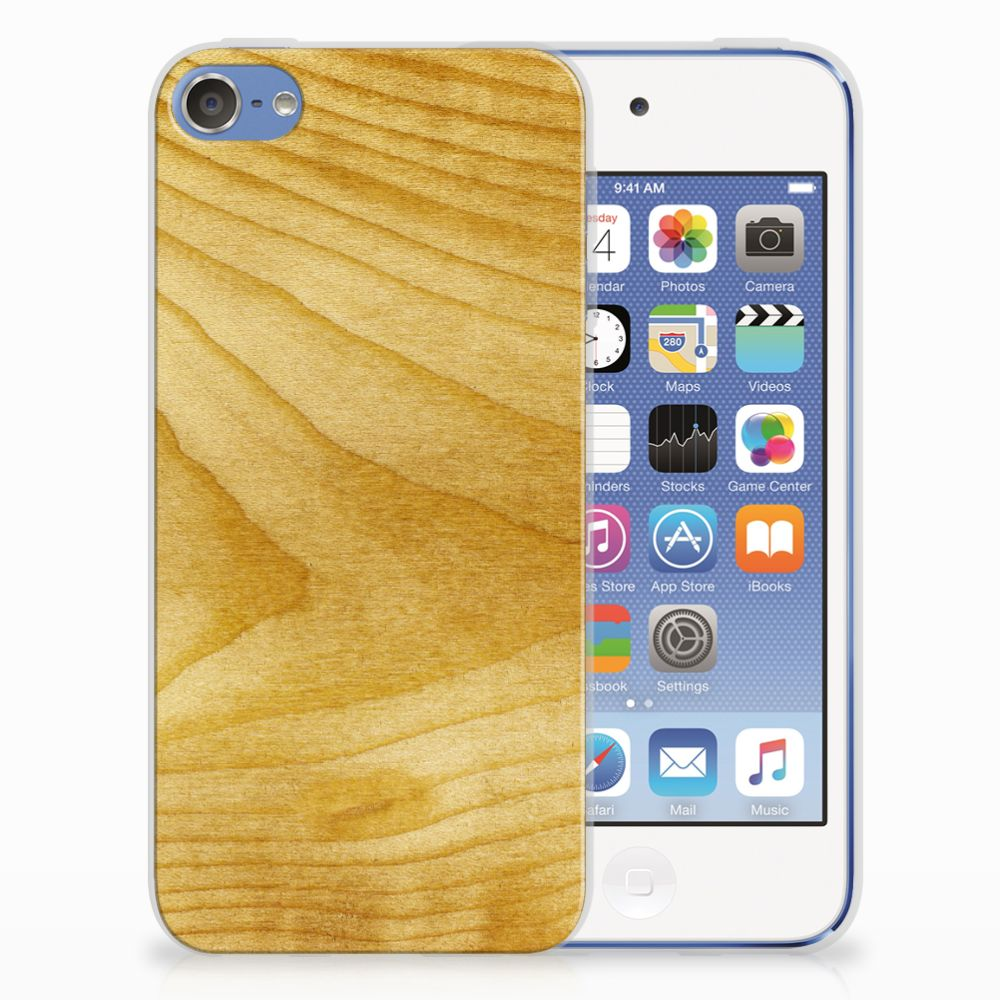 Apple iPod Touch 5 | 6 Uniek TPU Hoesje Licht Hout