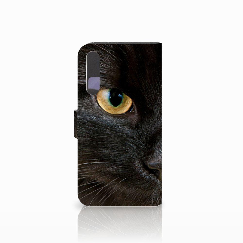 Huawei P20 Pro Telefoonhoesje met Pasjes Zwarte Kat