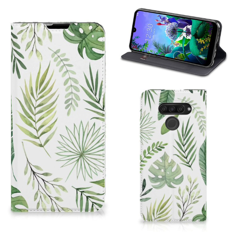 LG Q60 Smart Cover Leaves