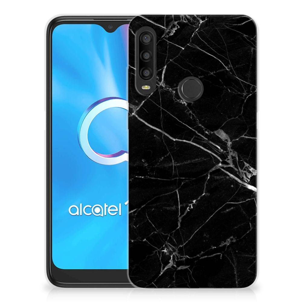 Alcatel 1SE (2020) TPU Siliconen Hoesje Marmer Zwart - Origineel Cadeau Vader