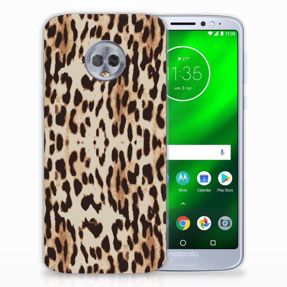Motorola Moto G6 Plus TPU Hoesje Leopard