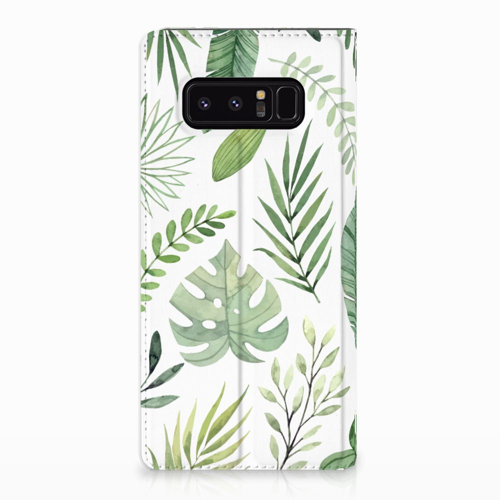 Samsung Galaxy Note 8 Uniek Standcase Hoesje Leaves