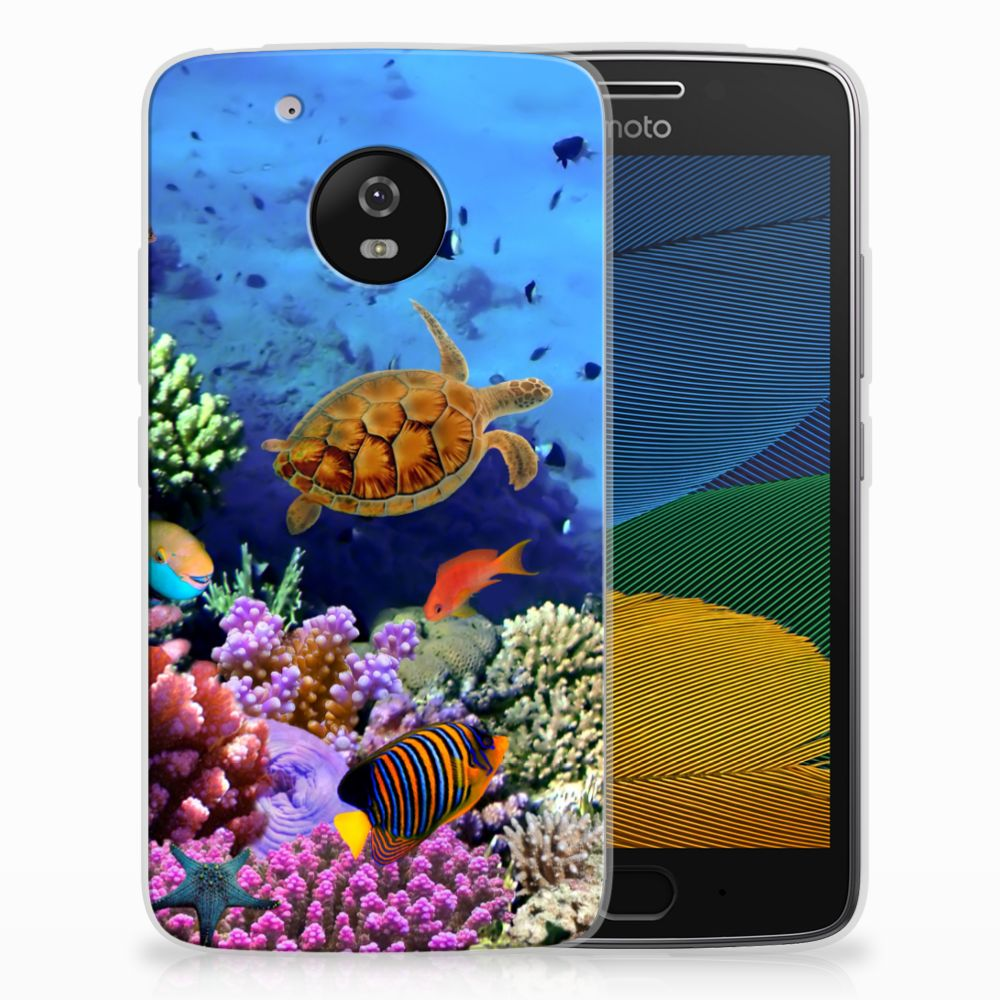 Motorola Moto G5 TPU Hoesje Design Vissen