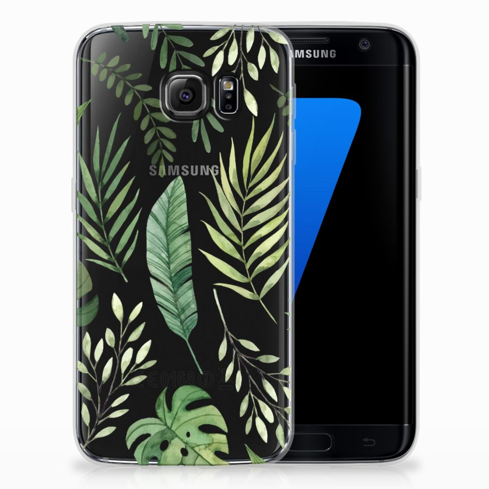 Samsung Galaxy S7 Edge Uniek TPU Hoesje Leaves