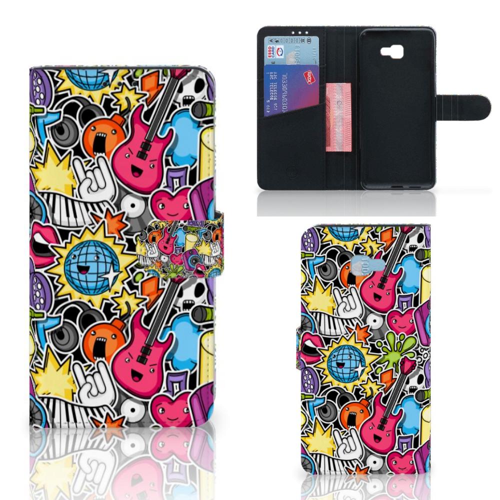 Samsung Galaxy J4 Plus (2018) Wallet Case met Pasjes Punk Rock