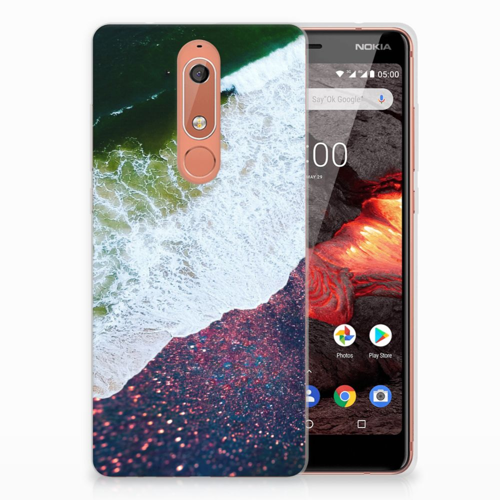 Nokia 5.1 (2018) TPU Hoesje Sea in Space