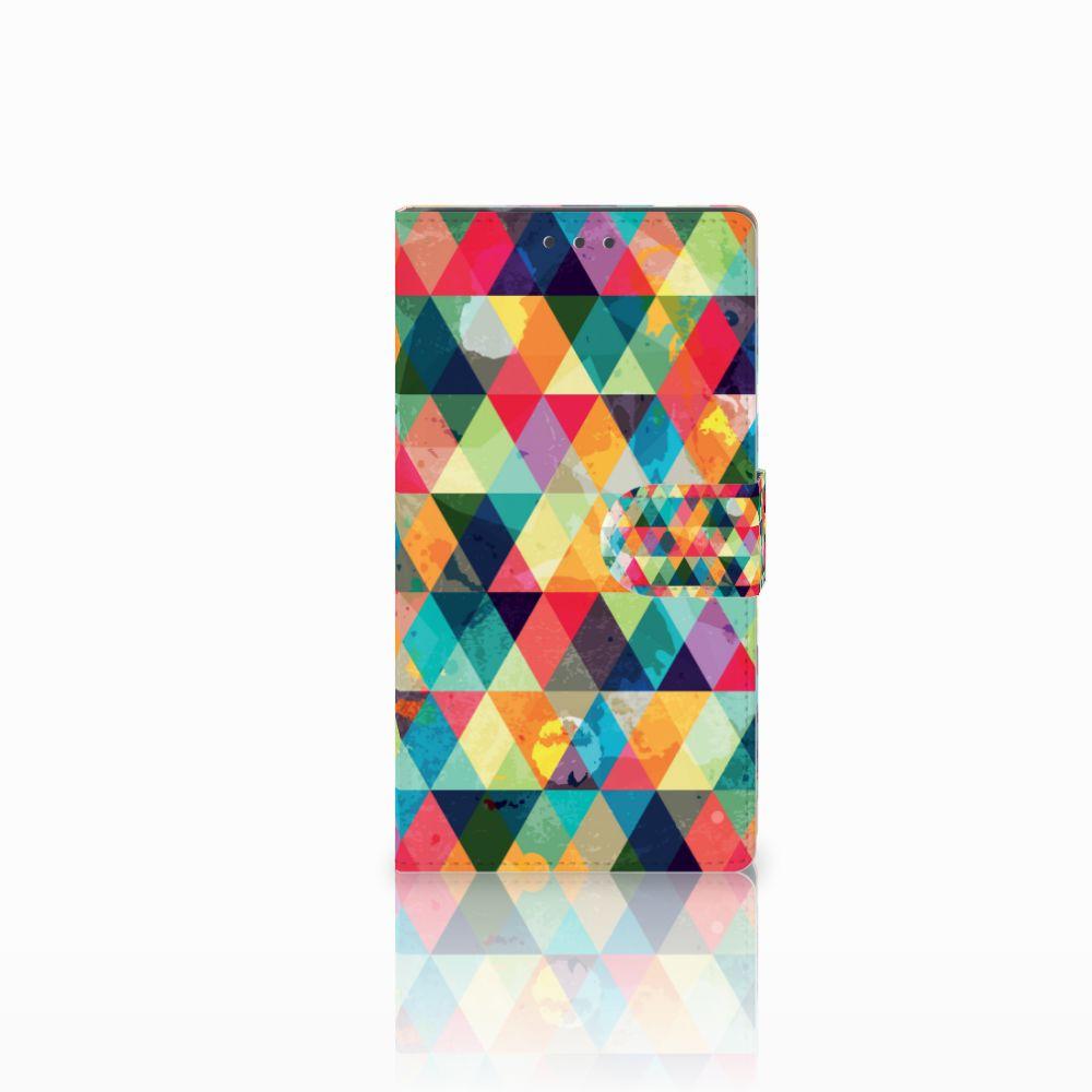 Samsung Galaxy Note 4 Uniek Boekhoesje Geruit