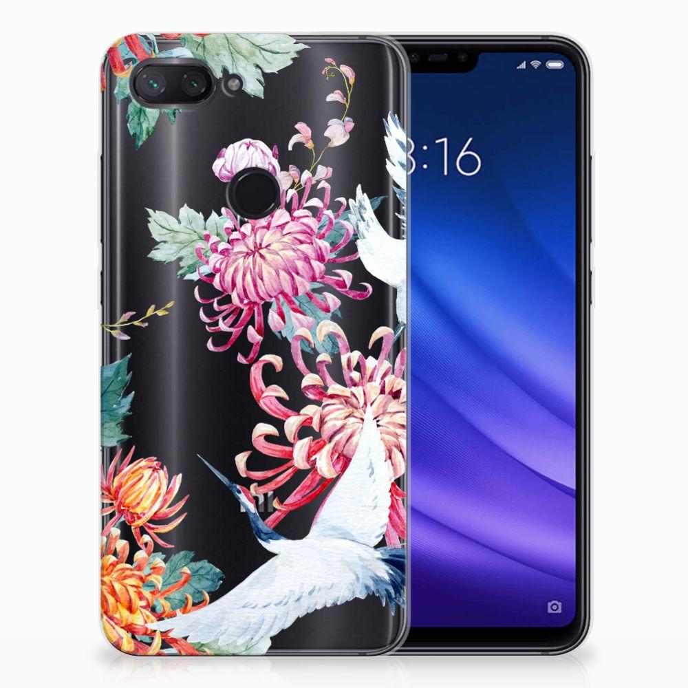 Xiaomi Mi 8 Lite TPU Hoesje Bird Flowers