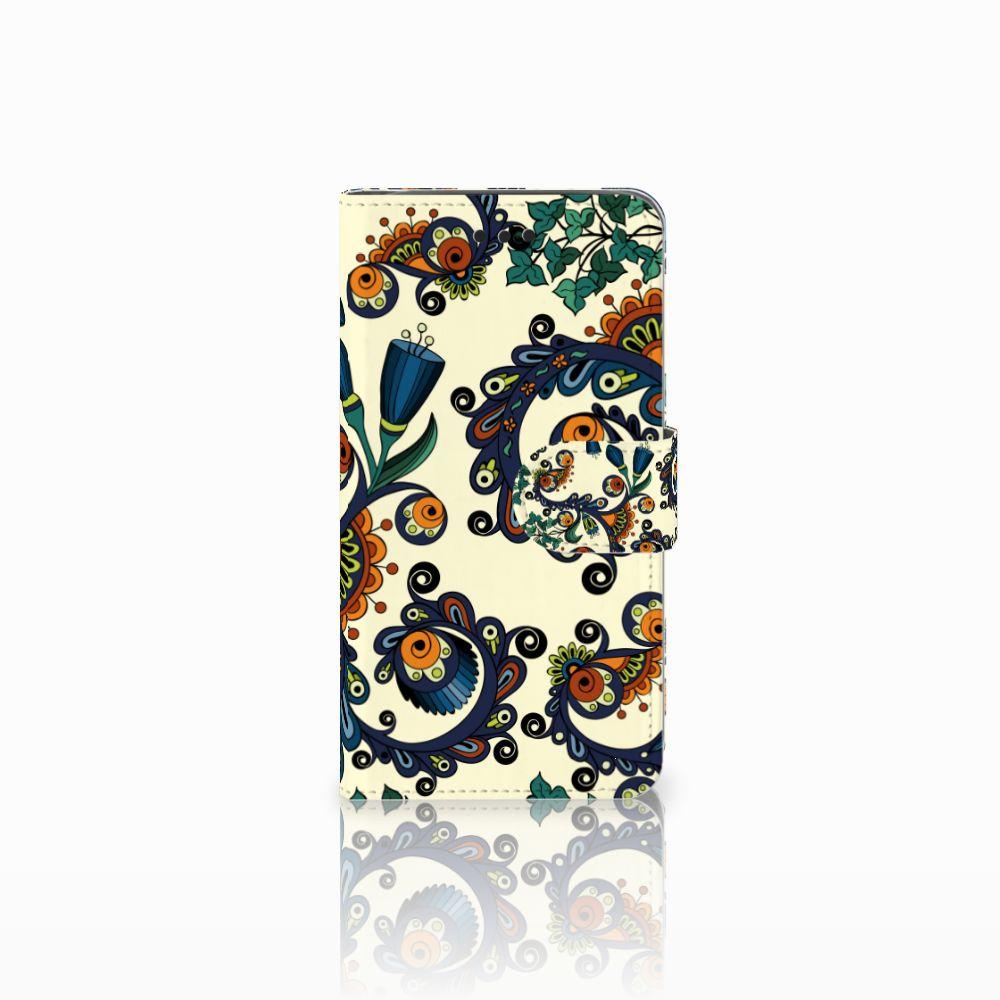 Samsung Galaxy J2 Pro 2018 Boekhoesje Design Barok Flower