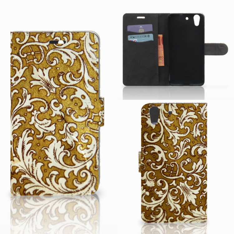 Wallet Case Huawei Y6 II | Honor 5A Barok Goud