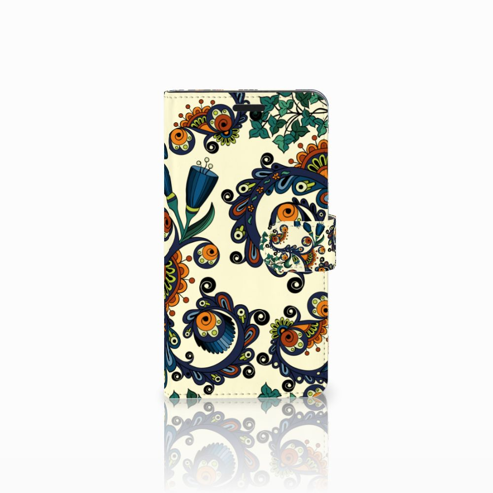 Wallet Case Sony Xperia T3 Barok Flower