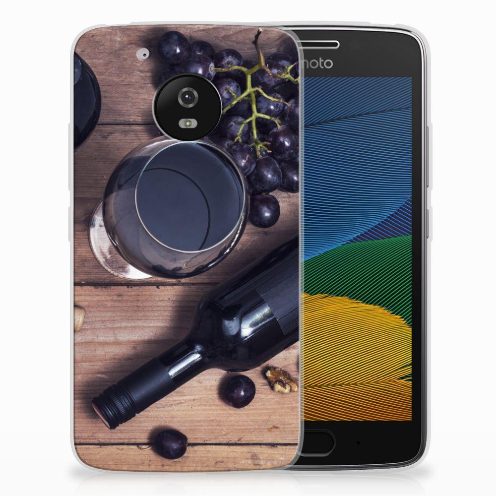 Motorola Moto G5 Siliconen Case Wijn