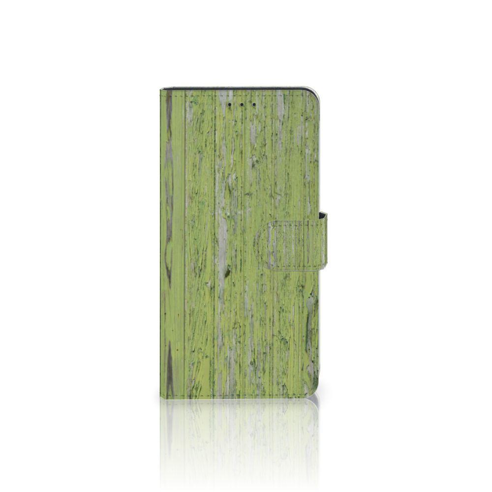 Samsung Galaxy A7 (2018) Boekhoesje Design Green Wood