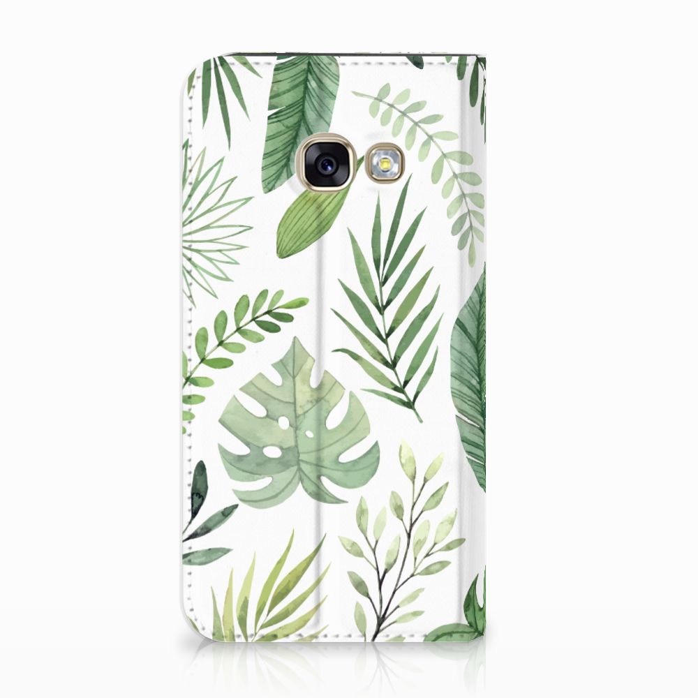 Samsung Galaxy A3 2017 Uniek Standcase Hoesje Leaves