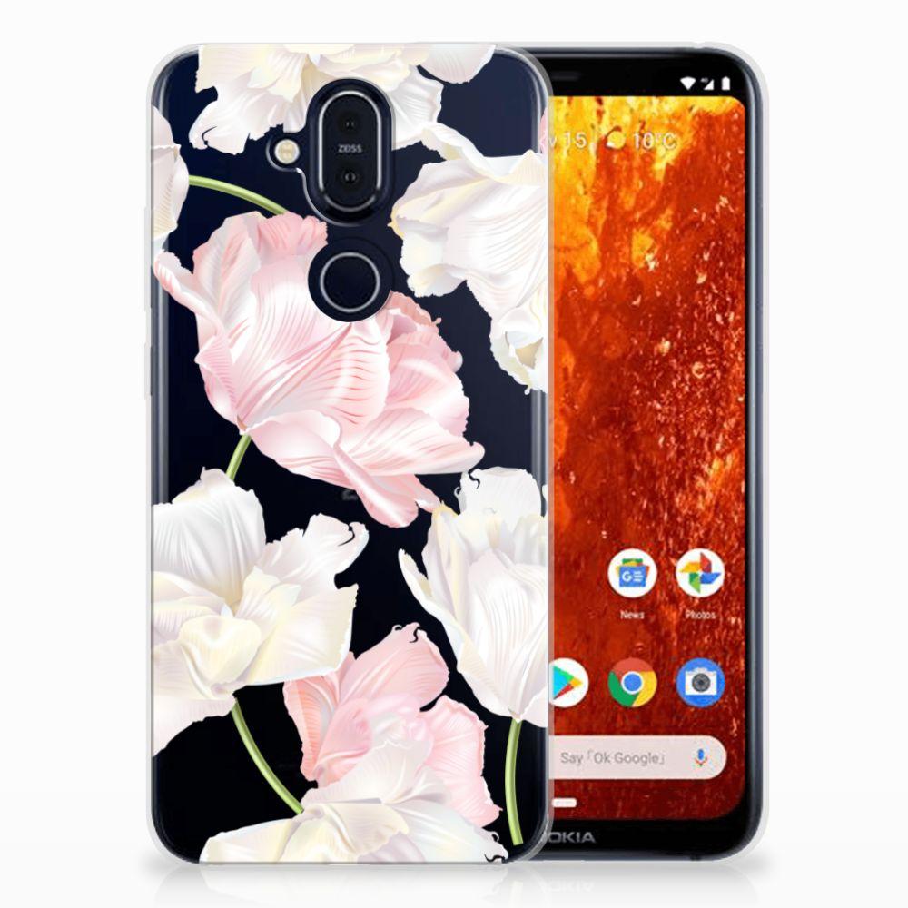 Nokia 8.1 TPU Hoesje Design Lovely Flowers