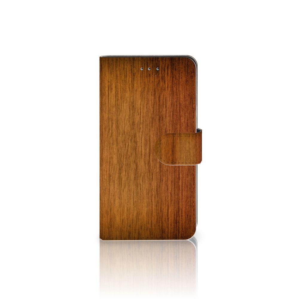 Samsung Galaxy J4 2018 Uniek Boekhoesje Donker Hout