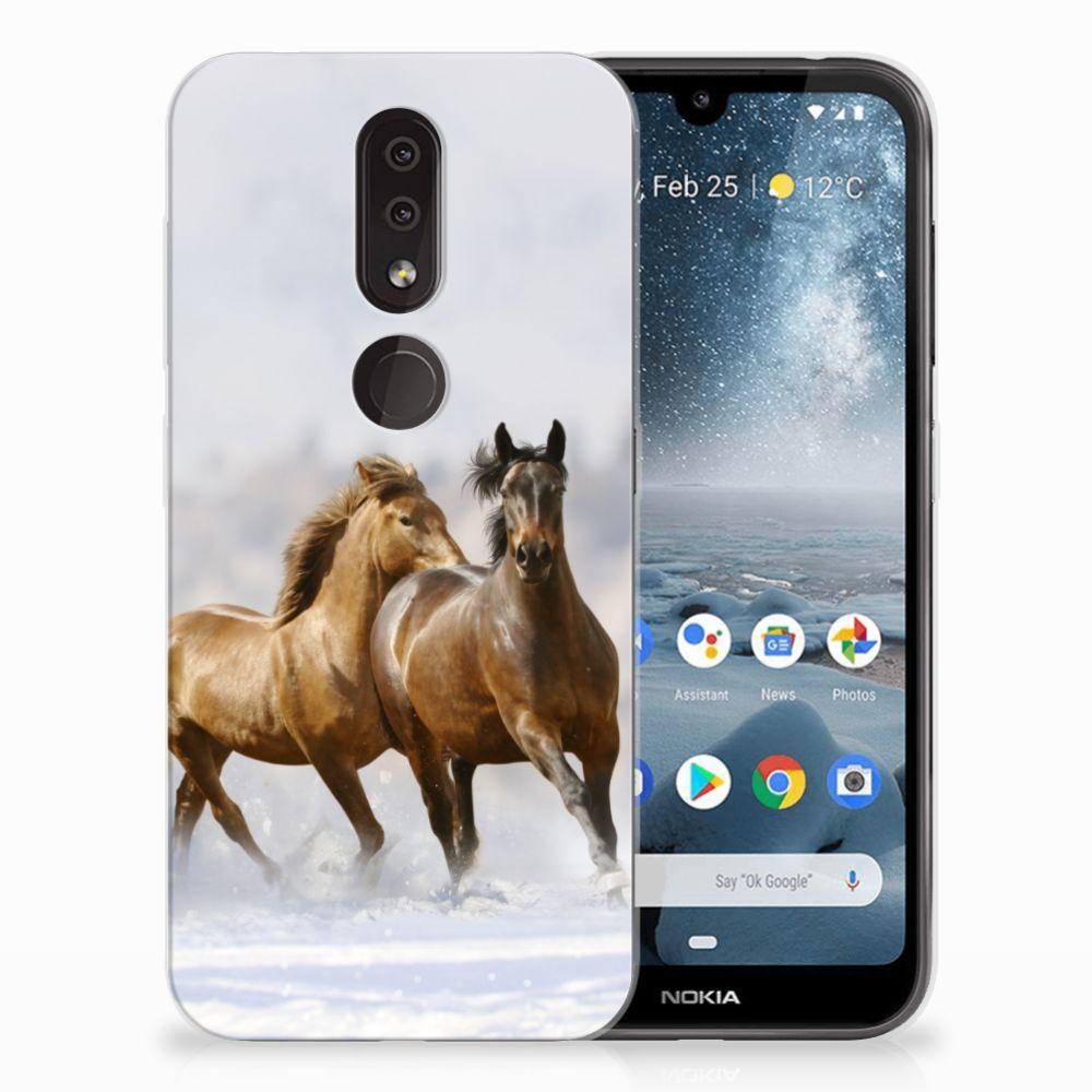 Nokia 4.2 Leuk Hoesje Paarden