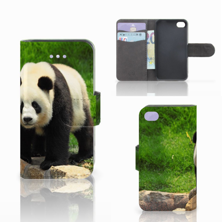 Apple iPhone 4 | 4S Telefoonhoesje met Pasjes Panda