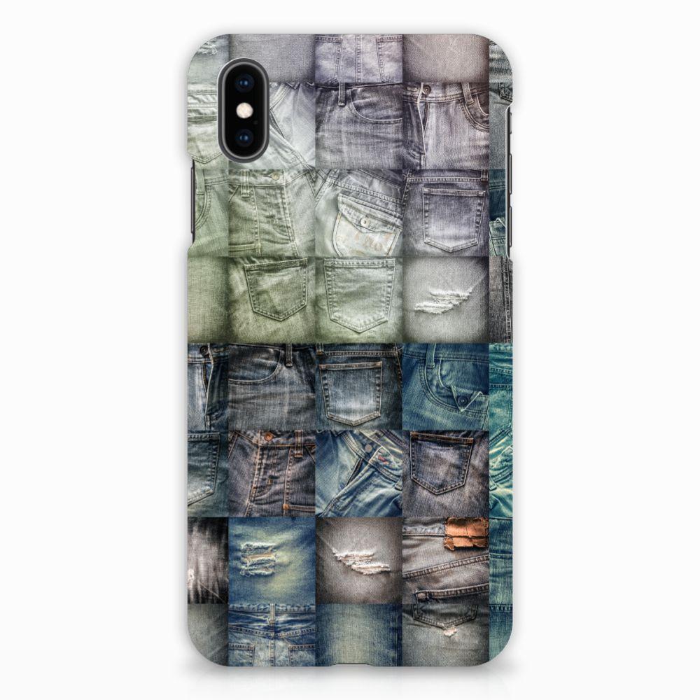 Apple iPhone Xs Max Uniek Hardcase Hoesje Spijkerbroeken