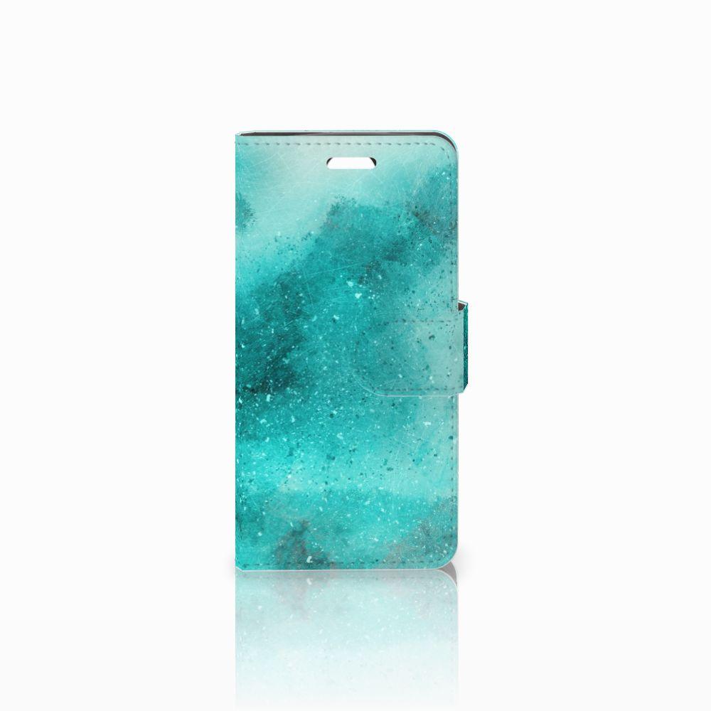 Acer Liquid Z330 Uniek Boekhoesje Painting Blue