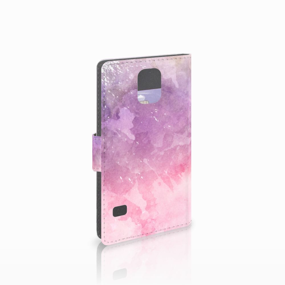 Samsung Galaxy S5 | S5 Neo Boekhoesje Design Pink Purple Paint