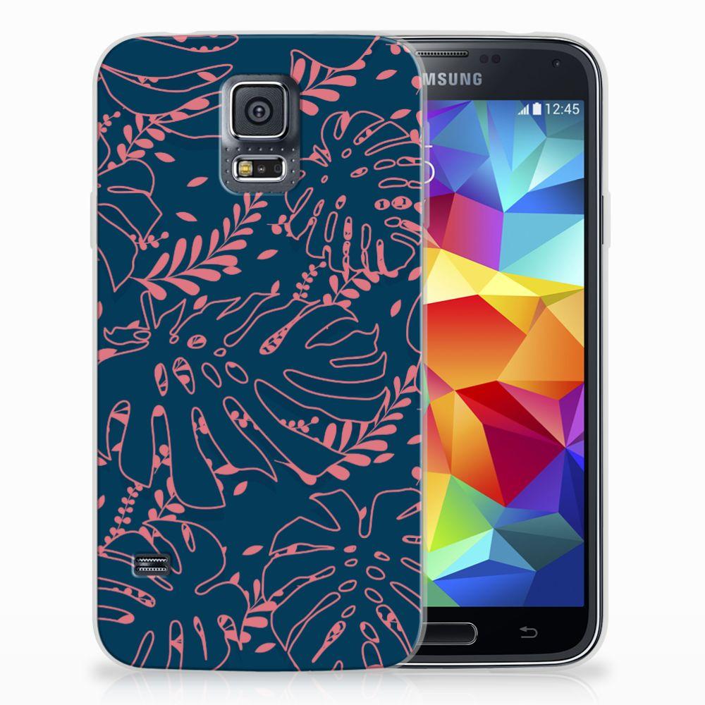 Samsung Galaxy S5 TPU Hoesje Design Palm Leaves