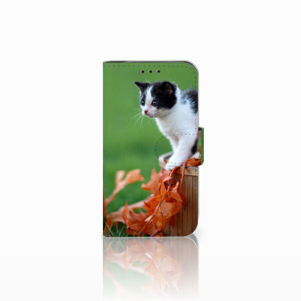 LG L90 Telefoonhoesje met Pasjes Kitten